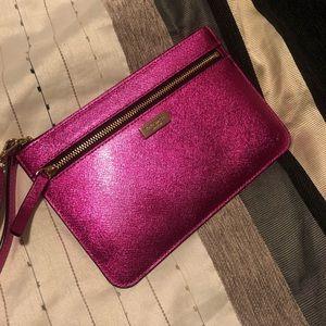 NEW! Kate Spade Pink Metallic Wristlet